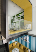 黄绿色调办公空间效果图