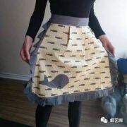 小鲸鱼围裙,布艺手工制作教程