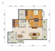 二室房型阳光都市户型设计