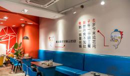 混搭餐厅手绘背景墙图片