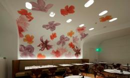 酒店餐厅手绘墙设计
