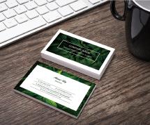 一款绿色植物环保化妆品创意名片设计欣赏