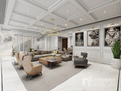 900㎡多层别墅现代极简风格装修设计图