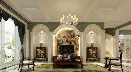 豪华欧式别墅装修效果图,华丽高贵,欧式装修效果图