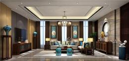 四合茗苑中式客厅装修效果图