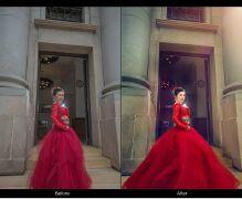 PS婚纱照处理:调色婚纱照片唯美逆光艺术效果
