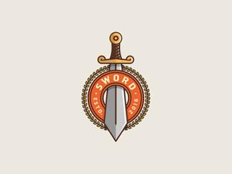 十个以剑为元素的logo设计