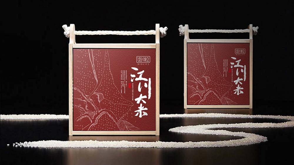 江川大米礼盒外盒设计