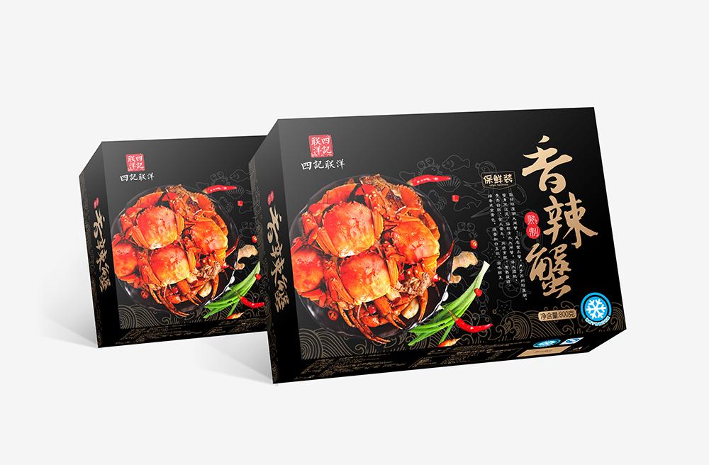 香辣蟹包装设计
