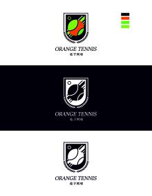 桔子网球培训学校标志设计
