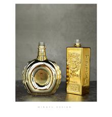 金色洋酒瓶设计