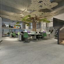 写字楼 办公室 创意园 商业空间 商场 店铺 餐饮 效果图 公装设计装修