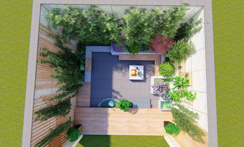 九夏元水别墅花园设计