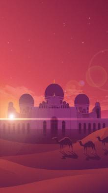 《清真寺的一天》国外设计项目插画动画