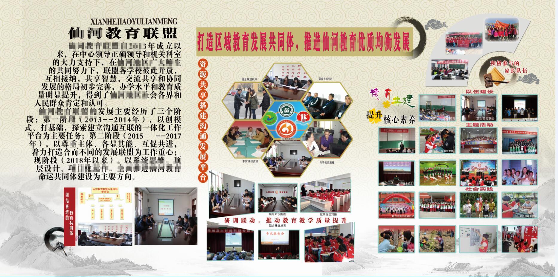 學校特色辦學情況展板5米x12米