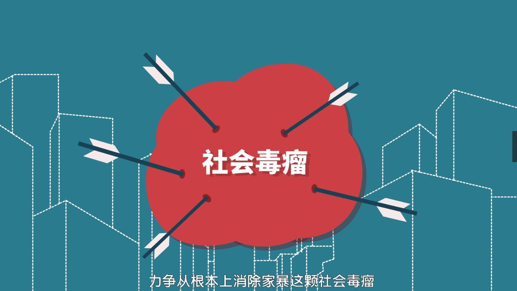 政府公益FLASH动画——《家庭暴力》公益宣传片