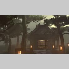 【3D建模】深山古寺