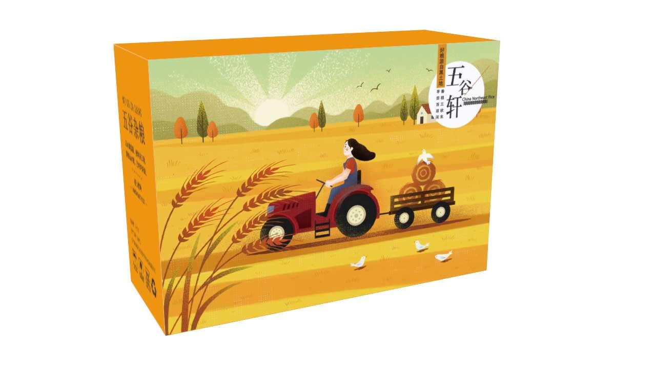 养生谷物礼盒包装设计