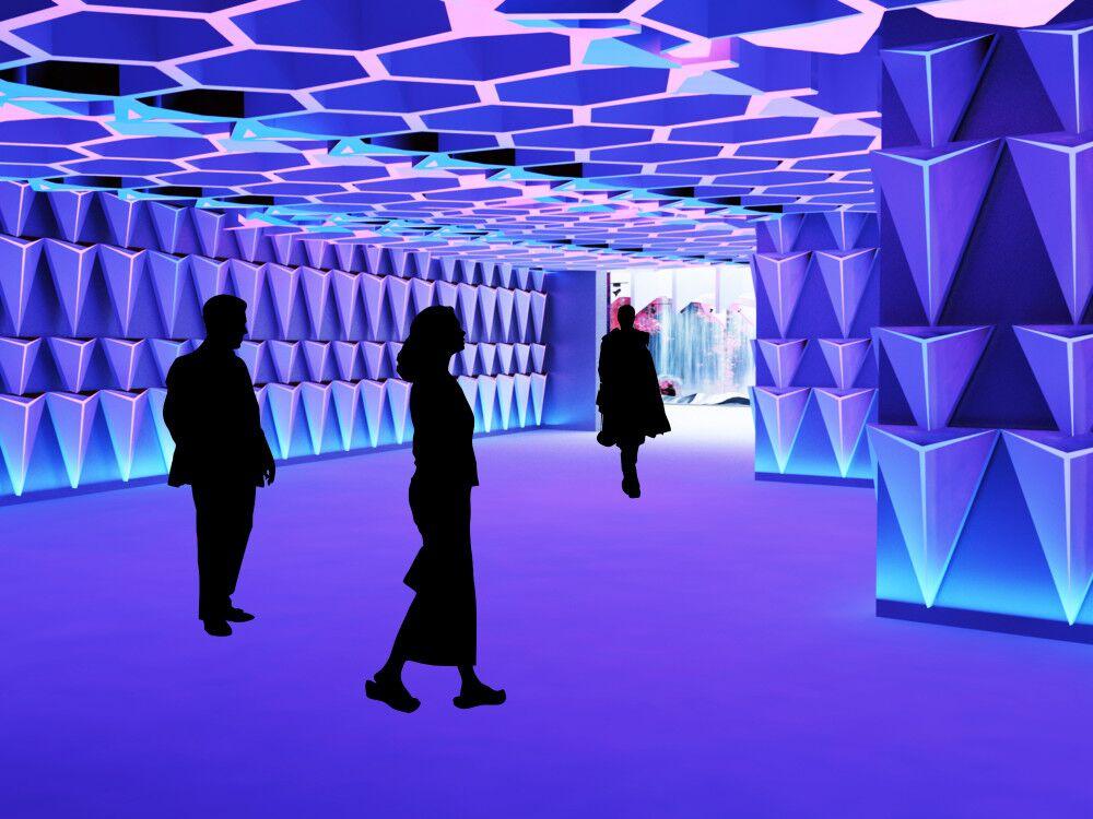 声音博物馆《序厅及序厅走廊》效果图