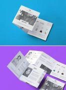 1组精致的国外三折页设计案例欣赏