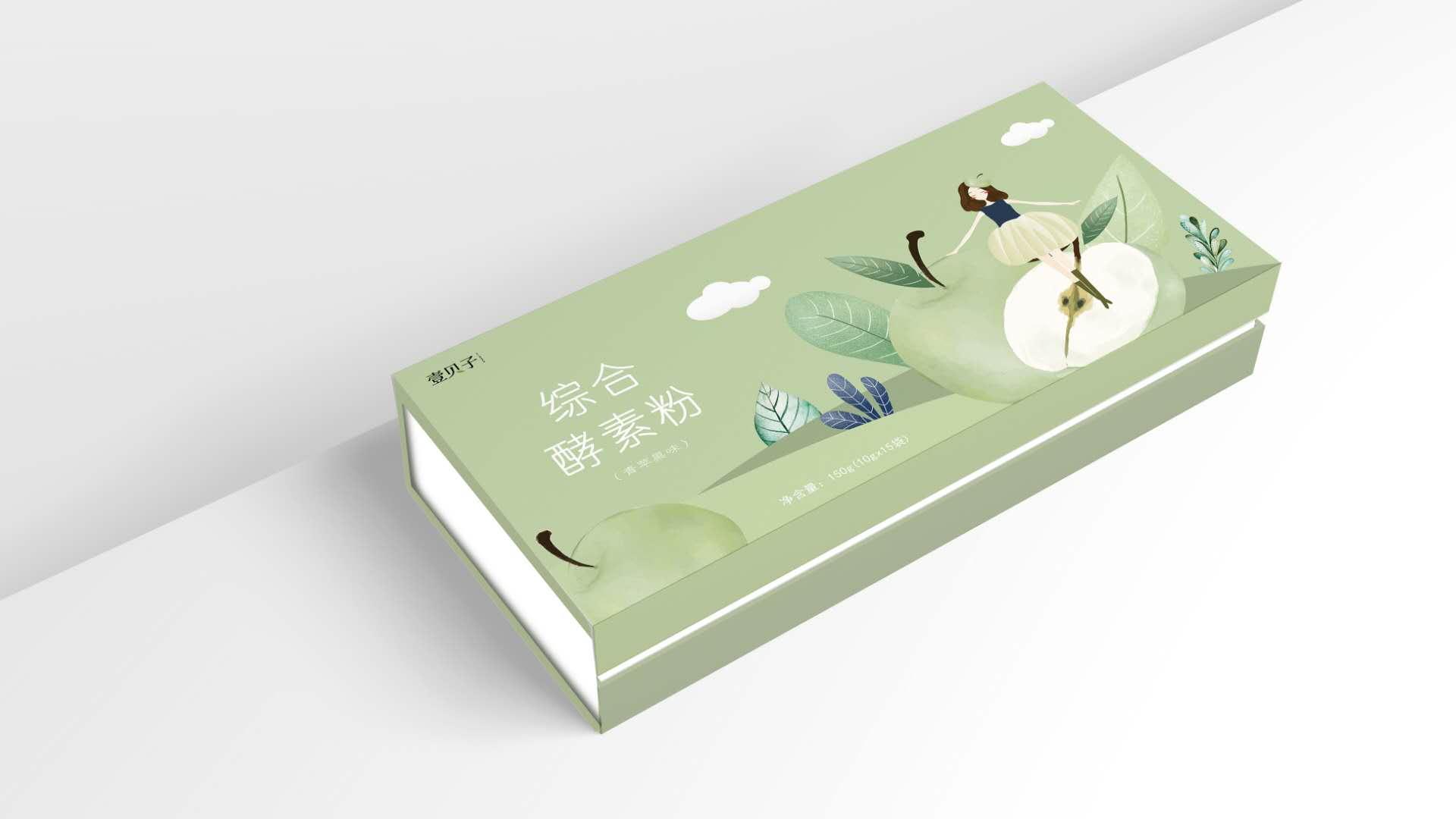 插畫包裝設計-綜合酵素粉