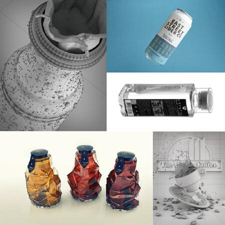 【拾月】礼盒包装结构、异形包装结构、瓶型设计