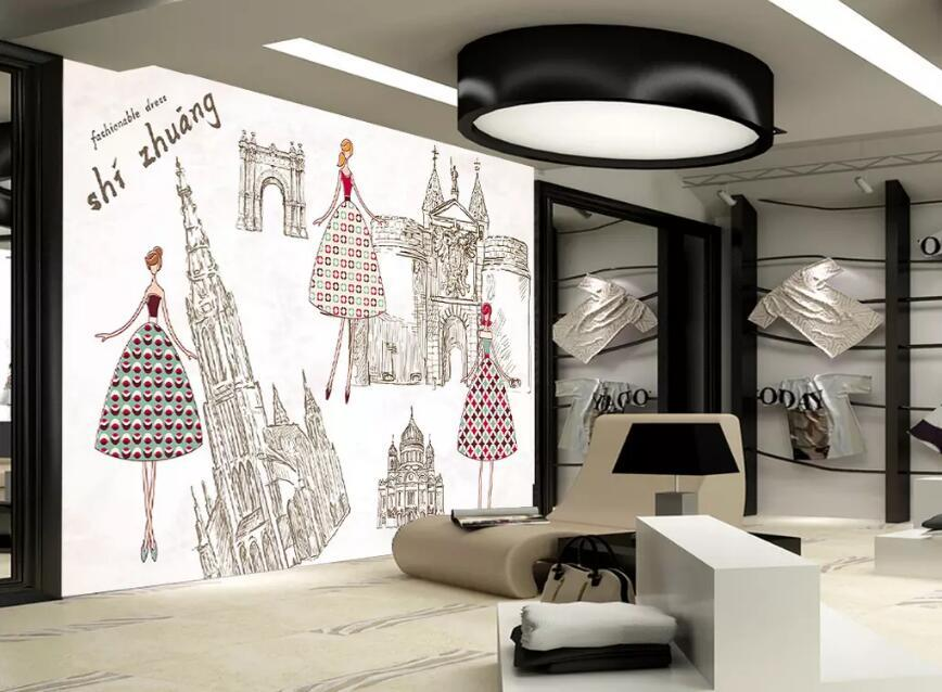 服装店背景墙应该如何设计?服装店背景墙设计介绍