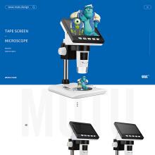 跨境电商案例-【带屏幕显微镜亚马逊主图】