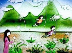 儿童彩色沙画制作