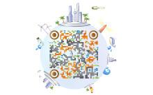电博会二维码设计