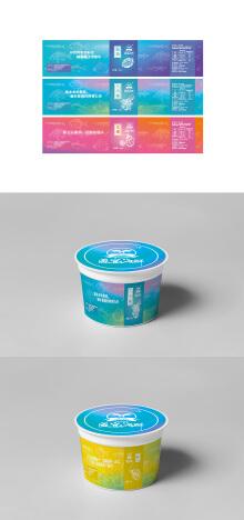 海鲜盛宴即食海鲜罐装标贴顶贴设计方案