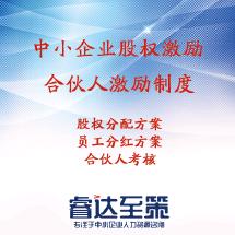中小企业股权设计/股权激励/合伙人激励制度设计/员工分红-全国上门