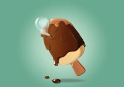 鼠绘卡通冰激凌形象设计