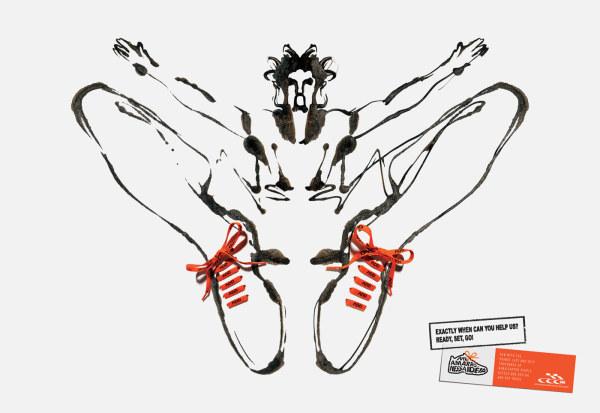 手绘运动鞋创意海报设计
