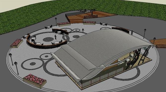 滨水景观茶室设计