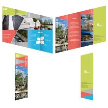 重庆联众园林景观设计有限公司 — 异形四折页设计