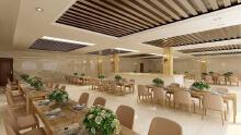 员工餐厅3D效果图
