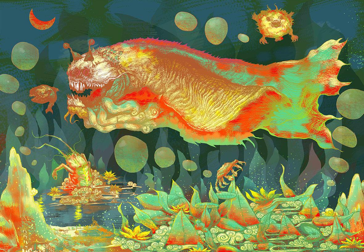 北冥有鱼--插画系列设计