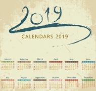 2019日历设计案例