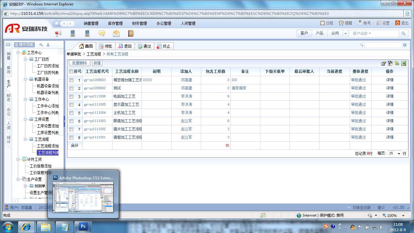 安瑞科技  ERP系统