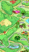 手绘电子卡通地图 设计定制城市地标 古镇旅游景区景点 校园导航地图