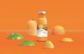 果趣代餐果蔬汁瓶贴系列包装设计