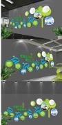 环保公司企业文化墙设计效果图