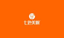 七色美粮品牌logo设计