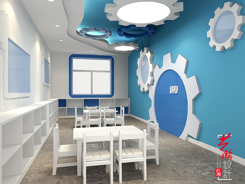 幼儿园效果图设计方案教育施工图教育培训机构设计装修室内设计