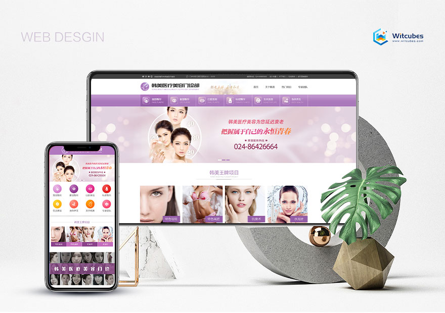 医美企业网站(PC+手机)