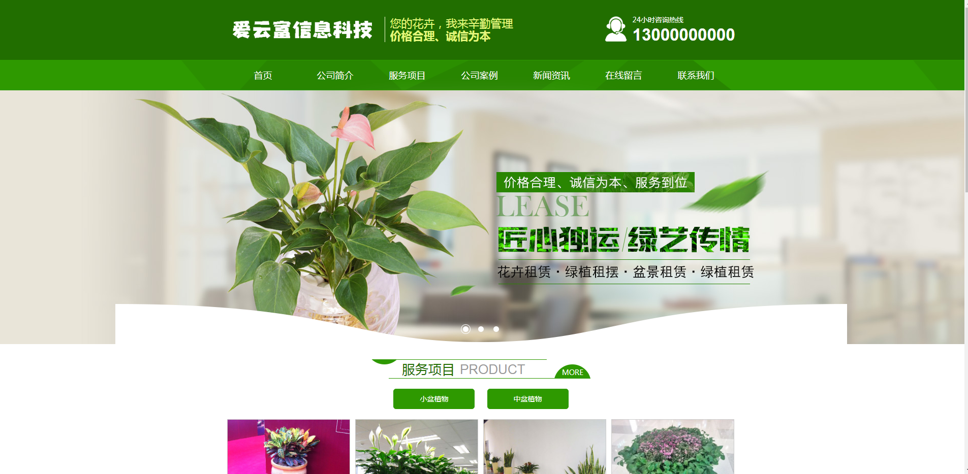爱云富信息科技-花卉类网站开发