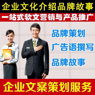 品牌策划公司简介企业品牌故事广告语撰写招商文案ppt写作