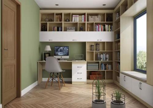 想要打造舒适有氛围的书房,装修设计要注意这几点