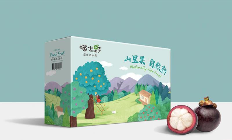 包装盒袋瓶贴箱食品产品酒茶礼品手绘插画